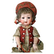 Antique German Bisque Head Doll Ernst Heubach 267