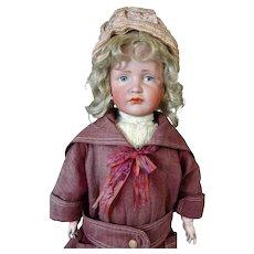 Antique German Bisque Head Doll Kammer & Reinhardt K&R 114