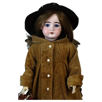 Antique German Bisque Head Doll Arthur Schonau