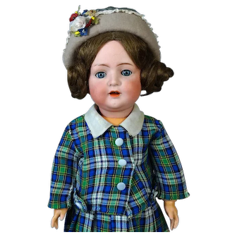 Antique German Bisque Head Doll Bruno Schmidt 692