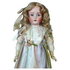 Antique German Bisque Head Doll Hertel & Schwab 136