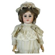Rare Antique French Papier-Mache Head Doll Fleischmann & Blodel