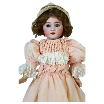 Jumeau DEP  Antique Bisque Head Doll