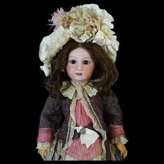 Rare Antique French Bisque Head Doll Heubach Jumeau 1907