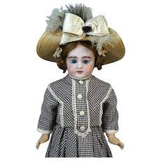 Antique French Bisque Head Doll Jumeau DEP 6