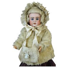 Antique Three Piece Winter Doll Costume