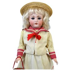Schonau & Hoffmeister 168 Antique German Bisque Head Doll