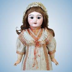 Fleischmann & Blodel Eden Bebe Rare Antique French Bisque Head Doll