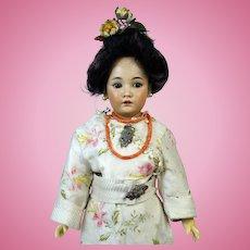 Simon & Halbig 1329 Oriental Rare Antique German Bisque Head Doll