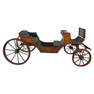 Wonderful Old wooden Doll Carriage Coach