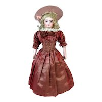 Antique French Automaton Walking Lady Fashion Doll
