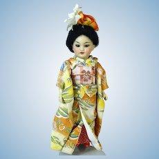 Simon & Halbig S&H 1199 Antique Oriental German Bisque Head Doll