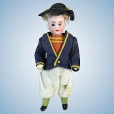 Antique Small German Bisque Head Doll