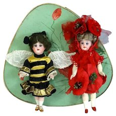 Two Antique German Dolls Unknown Maker and Kammer & Reinhardt in a Box