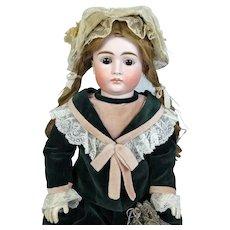 Johann Daniel Kestner JDK Pouty Face Antique German Bisque Head Doll