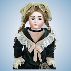 Johann Daniel Kestner JDK Pouty Face Antique German Bisque Head Doll