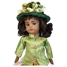 Black Simon & Halbig S&H 1039 Antique German Bisque Head Doll