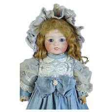Lanternier & Cie Limoges Antique French Bisque Head Doll