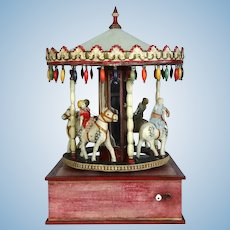 Antique Carousel Merry-Go-Round Music Box
