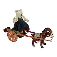 Donkey Carriage with a cute Steiff Teddy Bear