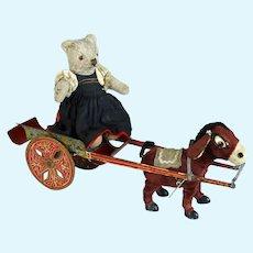 Donkey Carriage with a cute Steiff Teddy Bear