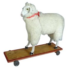 Antique Sheep on Wheels