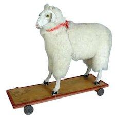 Antique Sheep on Wheels
