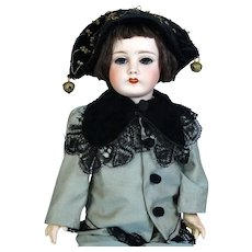 J. Balleroy Limoges Antique French Bisque Head Doll