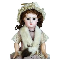 Emile Jumeau 7 Antique French Bisque Head Doll