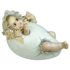 Wax baby doll in Egg