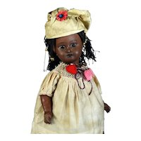 Antique Black Bisque Head Doll, Germany