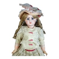 Jumeau 12 Antique French Bisque Head Doll