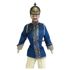Antique German Doll Dressed as a Soldier