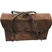 1920's Leather Travel Bag