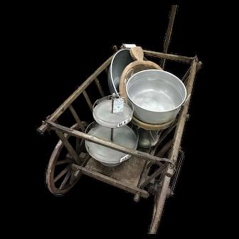 Antique German Wooden Hay Wagon