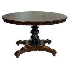 Mahogany, Oval Table, Circa the 19th Century