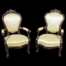 A Pair of Neo-Rococo Armchairs -- Circa 1920