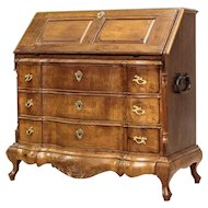 Neo-Baroque Oak Secretary from 1890 - Northern Europe