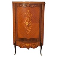 Inlaid Corner Commode of the half 20th Century