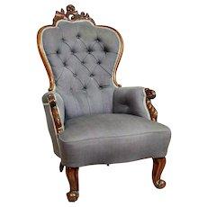 Neo-Rococo Armchair, Circa 1860
