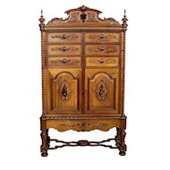 Walnut Wood Renaissance Cabinet from ca. 1900 - Netherlands
