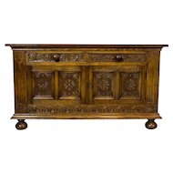 19th-Century Neo-Renaissance Oak Cabinet/Sideboard