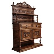 French Sideboard in Breton Style from ca. 1880