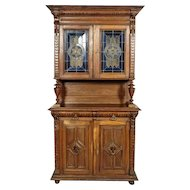 Cupboard with Stained Glass, ca. 1910