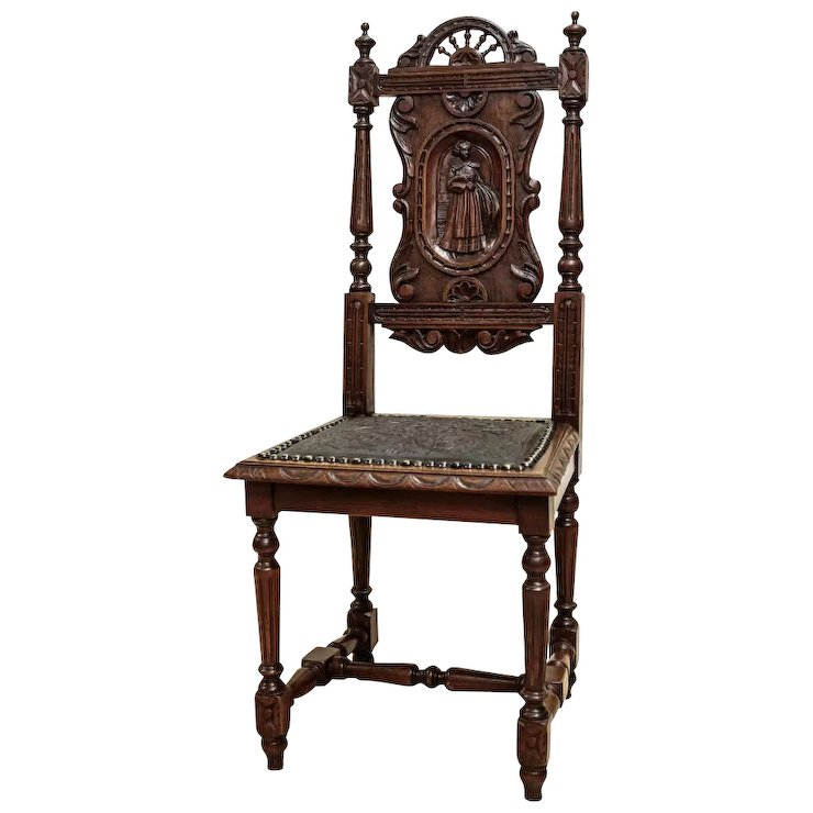 Breton Style Chairs 4 pcs. from 1880 - France - Breton Style Chairs 4 Pcs. From 1880 - France : Antique Beauty