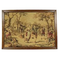 Tapestry of 1920 in Oak Frame - Belgium