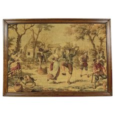 Tapestry of 1920 in Oak Frame - Belgium