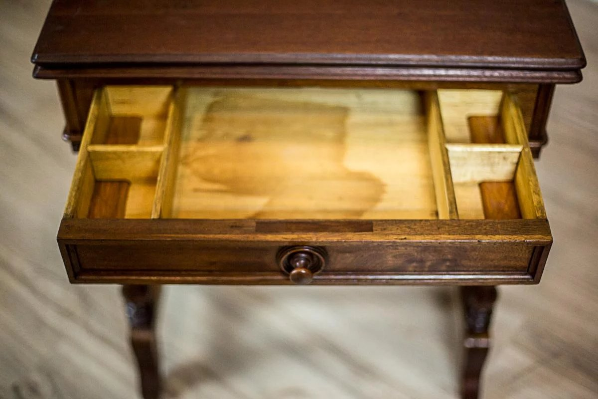 Click to expand - Antique Sewing Table/Card Table -- The 2nd Half Of The 19th Century
