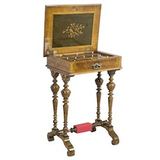 Eclectic Sewing Table, Circa 1900
