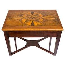Prewar, Small Table with Intarsia